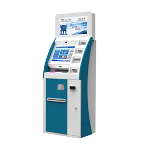 Payment Kiosk with Card Reader and Coin Hopper