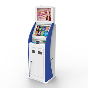 Floor Standing Ticket Dispense Kiosk with Card Reader