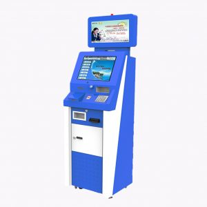 Bus Station Ticket Printing Kiosk with Advertising Screen