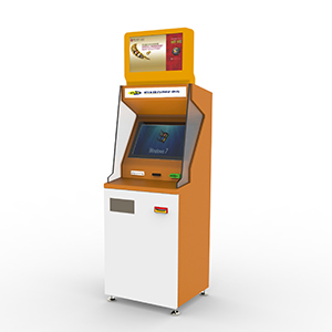 Safety Cash Payment Kiosk with Cash Dispenser