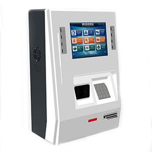 Desktop Kiosk with Bank Card Reader and QR Code Scanner