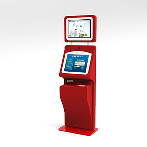 Dual Screen Payment Kiosk with Card Reader and Camera